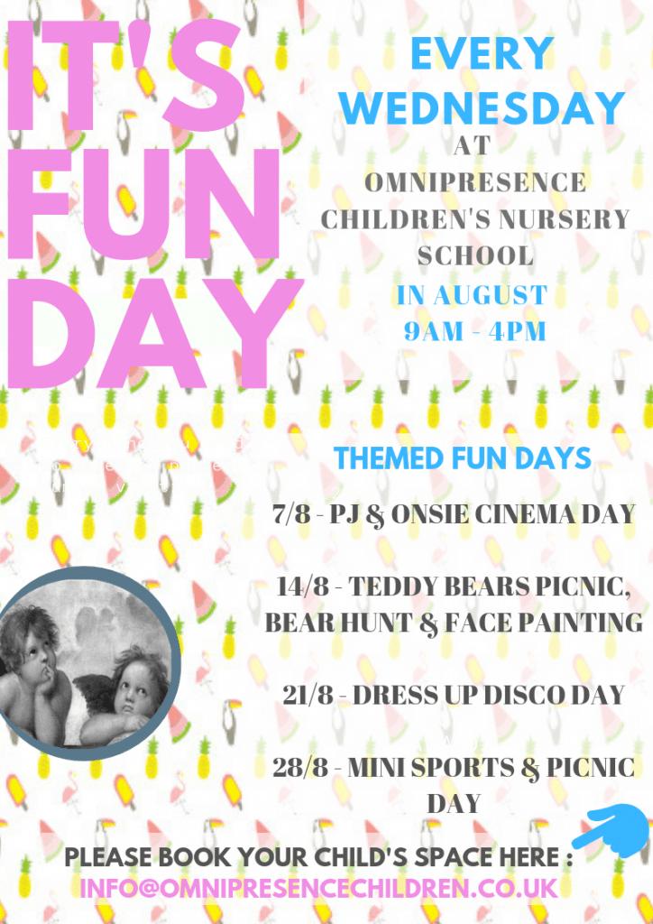 Fun day every Wednesday at Omnipresence Nursery School - Northampton