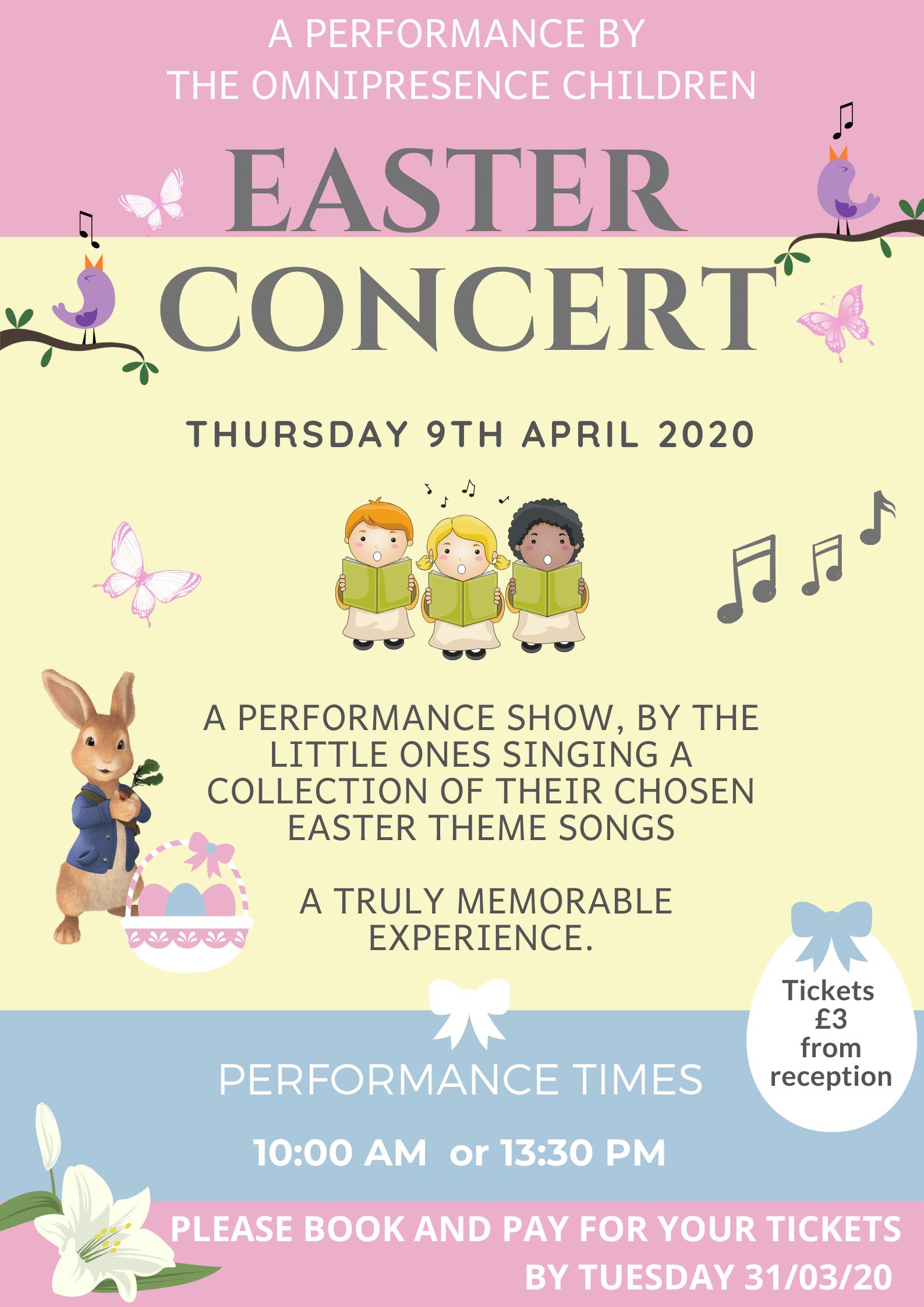 Nursery Easter Concert April 20202